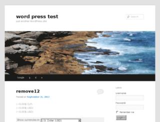 wordpresstest.us screenshot