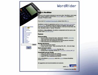wordrider.net screenshot
