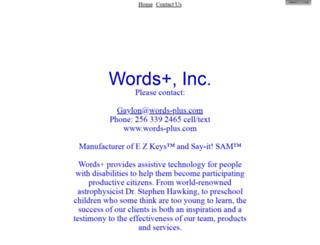 words-plus.com screenshot