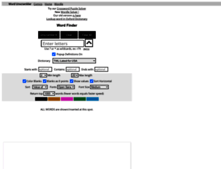 wordunscrambler.com screenshot