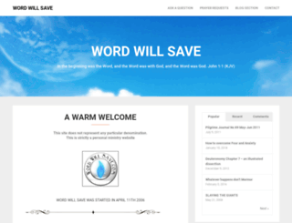 wordwillsave.com screenshot
