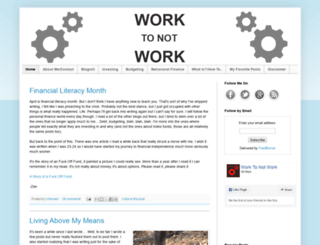work-to-not-work.com screenshot