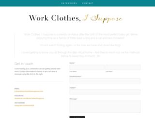 workclothesisuppose.com screenshot