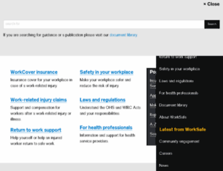 workcover.vic.gov.au screenshot
