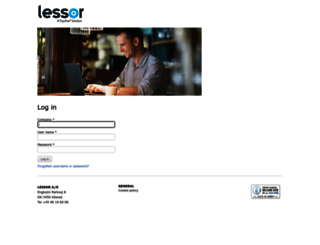 workforce.lessor.dk screenshot