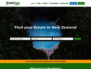 workhere.co.nz screenshot