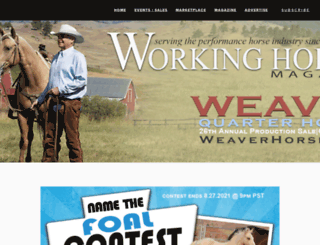 workinghorsemagazine.com screenshot