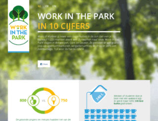 workinthepark.be screenshot