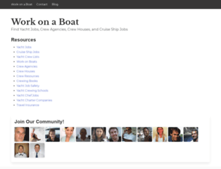 workonaboat.com screenshot