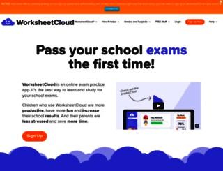 worksheetcloud.com screenshot