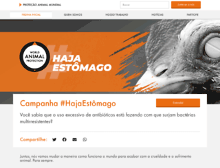 worldanimalprotection.org.br screenshot