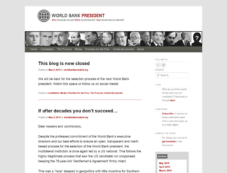 worldbankpresident.org screenshot
