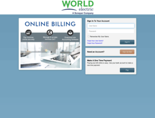 worldelectricsupply.billtrust.com screenshot