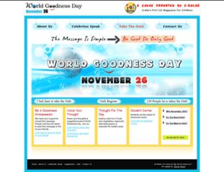 worldgoodnessday.net screenshot