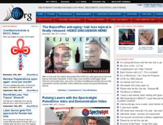 worldhairloss.org screenshot