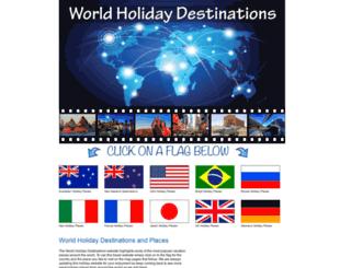 worldholidaydestinations.com screenshot