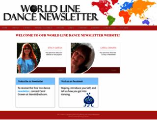 worldlinedancenewsletter.com screenshot