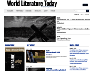 worldliteraturetoday.org screenshot