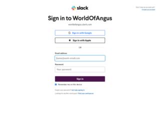 worldofangus.slack.com screenshot