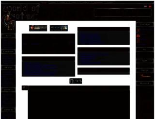 worldofgothic.com screenshot