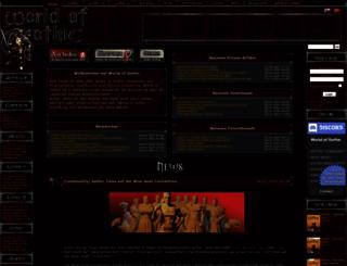 worldofgothic.de screenshot