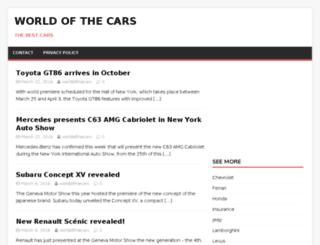worldofthecars.com screenshot