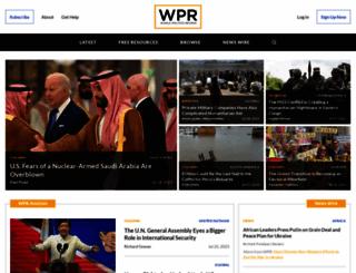 worldpoliticsreview.com screenshot