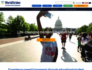 worldstrides.org screenshot