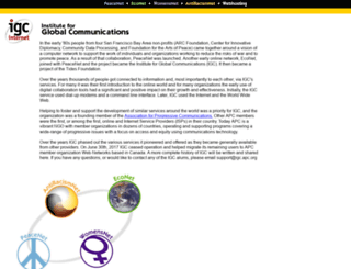 worldviews.igc.org screenshot