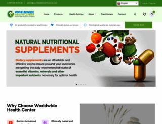 worldwidehealthcenter.net screenshot