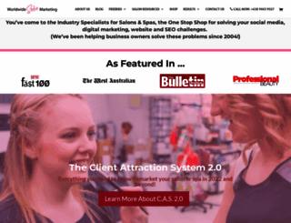 worldwidesalonmarketing.com screenshot