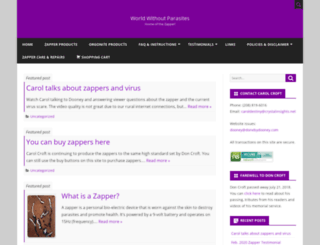 worldwithoutparasites.com screenshot