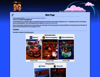 worms2d.info screenshot