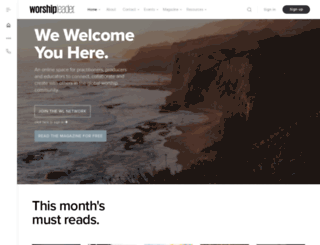 worshipleader.com screenshot