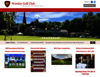 worsleygolfclub.co.uk screenshot