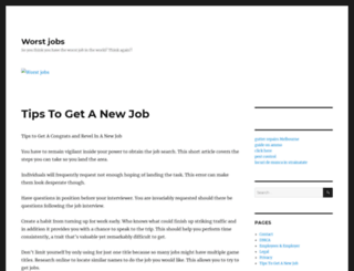 worst-jobs.com screenshot
