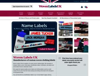 wovenlabelsuk.com screenshot