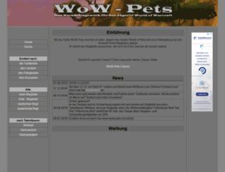 wow-pets.de screenshot