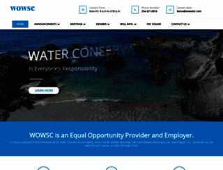 wowater.com screenshot