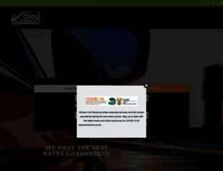wozanicarrental.co.za screenshot