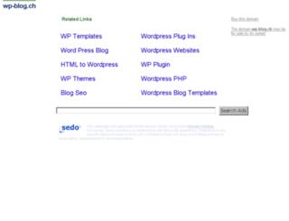 wp-blog.ch screenshot
