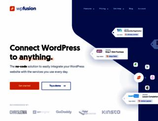 wpfusion.com screenshot