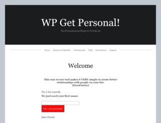 wpgetpersonal.com screenshot