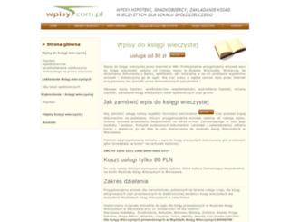 wpisy.com.pl screenshot