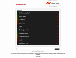 wpleadpro.com screenshot