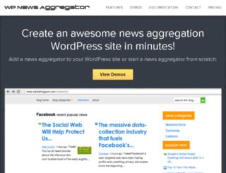 wpnewsaggregator.com screenshot