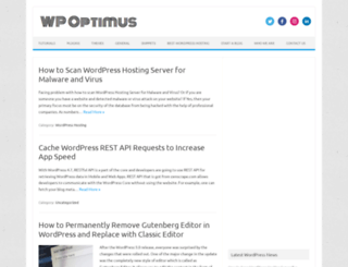 wpoptimus.com screenshot