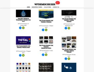 wpthemeschecker.com screenshot