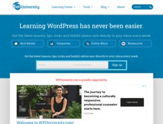 wpuniversity.com screenshot