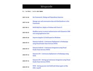 wrapcode.com screenshot